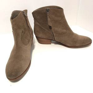 NEW Sam Edelman western brown suede leather bootie